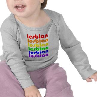 Lesbian Rainbow Tee Shirts