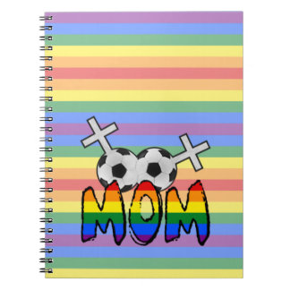 Lesbian Soccer Mom (w/ rainbow) Note Book