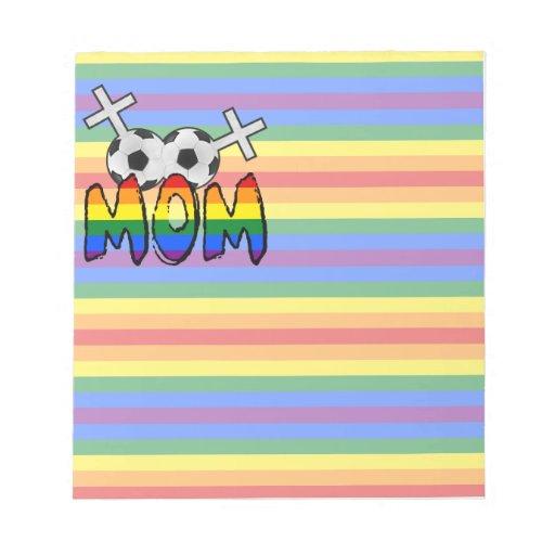 Lesbian Soccer Mom (w/ rainbow) Memo Notepads