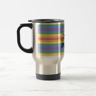Lesbian Soccer Mom (w/ rainbow) Travel Mug