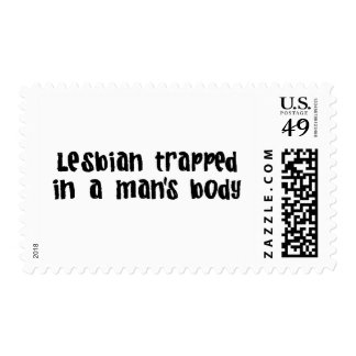 Lesbian Trapped In Man&Apos;S Body Postage Stamp