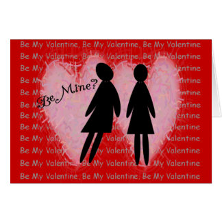 "Lesbian Valentine Cards & Gifts ""Be Mine?"""