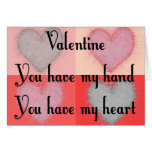 """Lesbian Valentine Gifts """"You Have My Heart"""" Cards"""