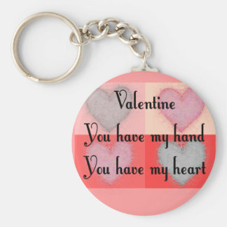 "Lesbian Valentine Gifts ""You Have My Heart"" Keychain"