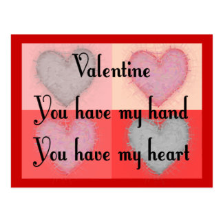 """Lesbian Valentine Gifts """"You Have My Heart"""" Postcard"""