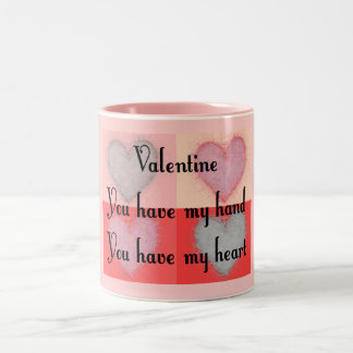 "Lesbian Valentine Gifts ""You Have My Heart"" Two-Tone Coffee Mug"