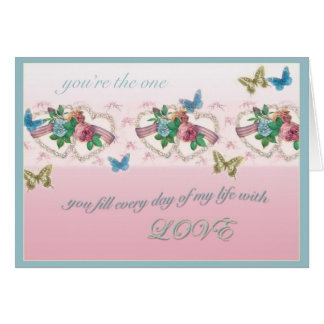 LESBIAN VALENTINE YOU ARE THE ONE GREETING CARDS
