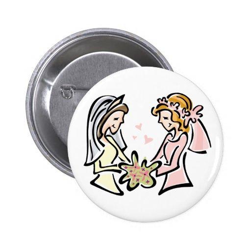 Lesbian Wedding 2 Inch Round Button