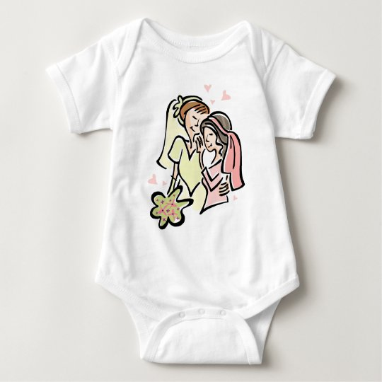 Lesbian Wedding Baby Bodysuit