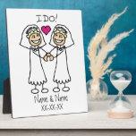 Lesbian Wedding Bridal Display Plaques