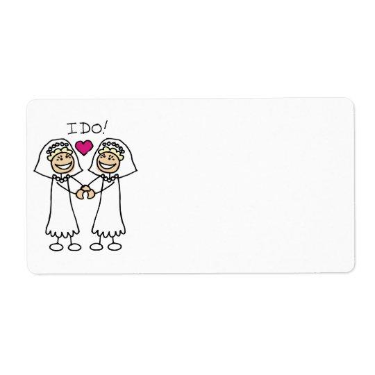 Lesbian Wedding Bridal Label