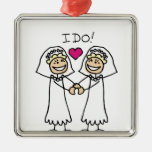 Lesbian Wedding Bridal Ornament