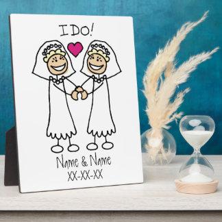 Lesbian Wedding Bridal Plaque