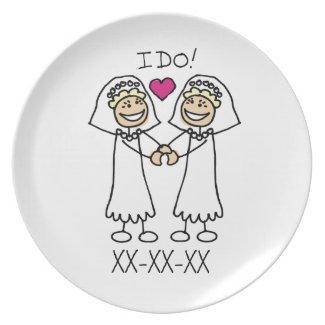 Lesbian Wedding Bridal Plate