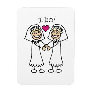 Lesbian Wedding Bridal Rectangular Magnets