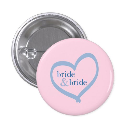 Lesbian Wedding Bride & Bride Button
