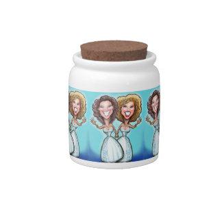 Lesbian Wedding Cake Dolls Candy Jar