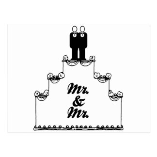 LESBIAN WEDDING CAKE MR AND MR - -  - .png Postcard