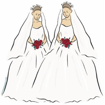 Lesbian Wedding Cake Topper Cut Out By Gayweddingday
