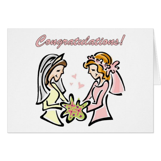 Lesbian Wedding Cards - blank inside - lovely.