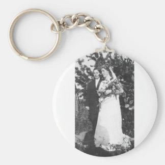 Lesbian Wedding Circa 1920 Keychain