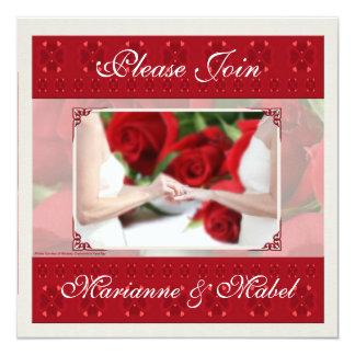 Lesbian Wedding / Civil Union Custom Invitation