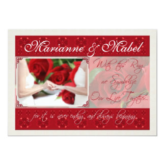 Lesbian Wedding / Civil Union Custom Invitation