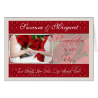 Lesbian Wedding Congratulations Personalized Card
