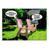 Lesbian Wedding Congratulations, Pink Chairs Card