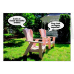 Lesbian Wedding Congratulations, Pink Chairs Greeting Card