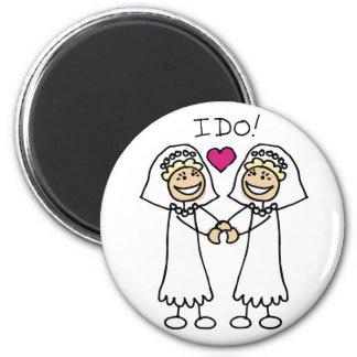 Lesbian Wedding Favors 2 Inch Round Magnet