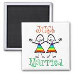 Lesbian Wedding Favors 2 Inch Square Magnet