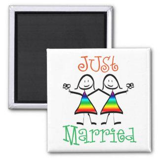 Lesbian Wedding Favors 2 Inch Square Magnet