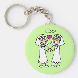 Lesbian Wedding Favors Basic Round Button Keychain