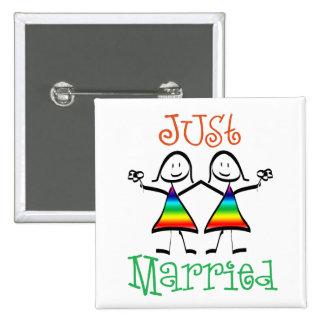 Lesbian Wedding Favors Pinback Button