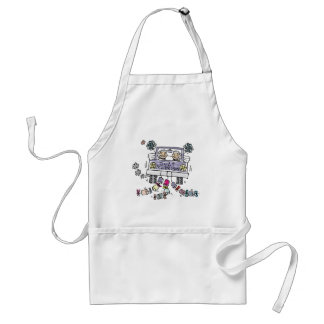 Lesbian Wedding Just Married Adult Apron