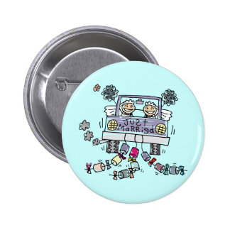 Lesbian Wedding Just Married Pinback Button