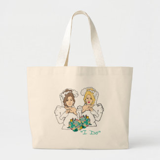 Lesbian Wedding Large Tote Bag