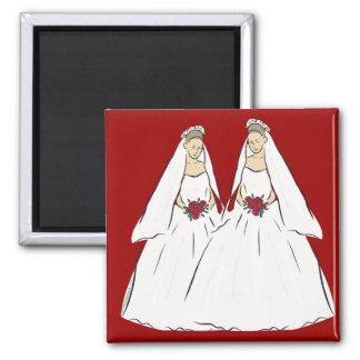 Lesbian Wedding Magnet