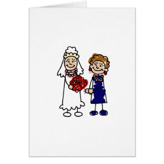 Lesbian Wedding One Bride Greeting Card