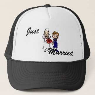 Lesbian Wedding One Bride Trucker Hat