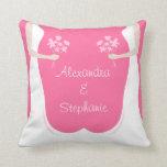 Lesbian Wedding Personalized Pillow
