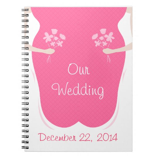 Lesbian Wedding Personalized Spiral Notebook