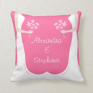 Lesbian Wedding Personalized Throw Pillow
