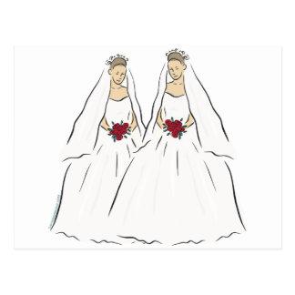 Lesbian Wedding Post Card