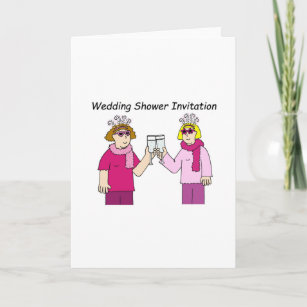 lesbian wedding shower invitation invitation