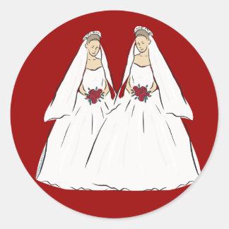 Lesbian Wedding Stickers