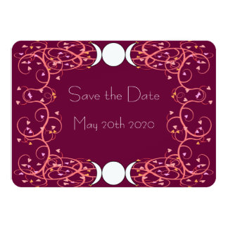 Lesbian Wiccan Wedding Save the Date Card