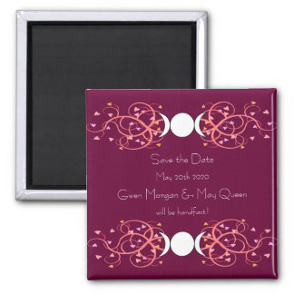 Lesbian Wiccan Wedding Save the Date Magnet