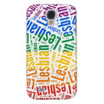 LESBIAN WORD PATTERN COLOR SAMSUNG GALAXY S4 COVERS